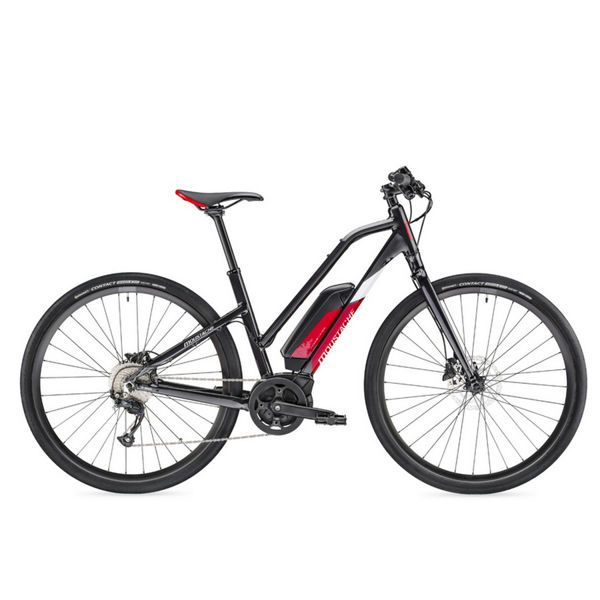 Picture of MOUSTACHE ELECTRIC BIKE DIMANCHE 28 FITNESS 1 OPEN BLACK/RED 2019