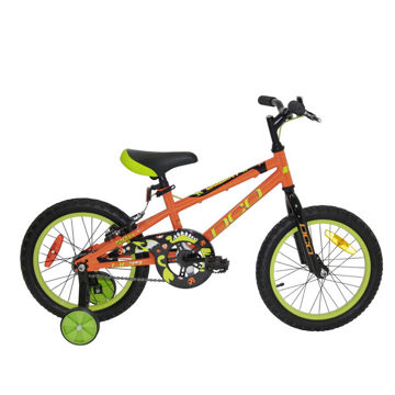 """Picture of DCO BIKE GALAXY 16"""" ORANGE/GREEN 2019 FOR JUNIORS"""