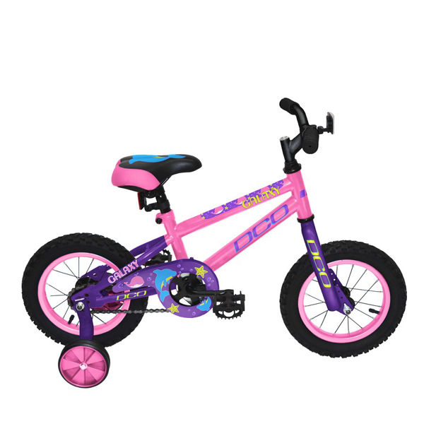 """Picture of DCO BIKE GALAXY 12"""" PINK/PURPLE 2019 FOR JUNIORS"""