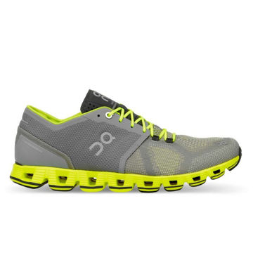 Picture of ON ROAD RUNNING SHOES CLOUD X GREY/NEON FOR MEN