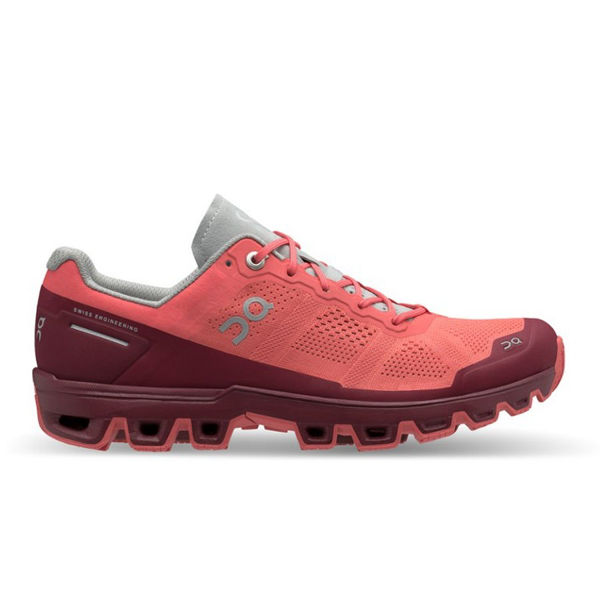 Picture of ON ROAD RUNNING SHOES CLOUDVENTURE CORAL/MULBERRY FOR WOMEN