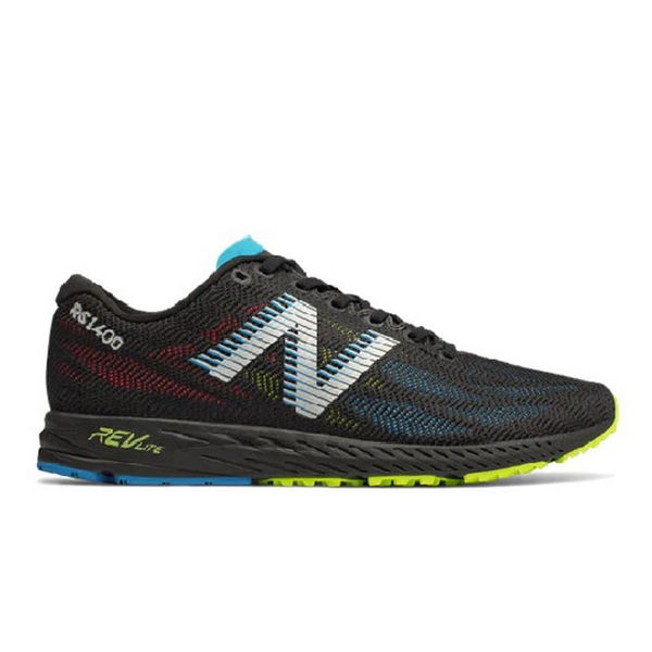 Picture of NEW BALANCE ROAD RUNNING SHOES 1400V6 BLACK/BLUE FOR MEN