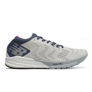 Picture of NEW BALANCE ROAD RUNNING SHOES FUELCELL IMPULSE WHITE/VIOLET FOR WOMEN