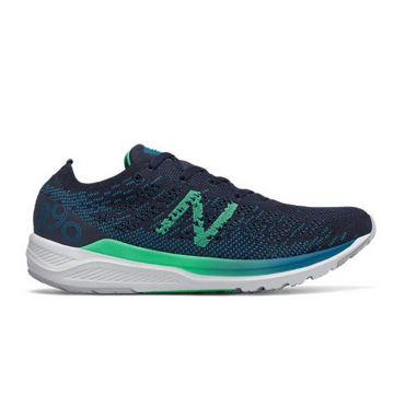 Picture of NEW BALANCE ROAD RUNNING SHOES 890V7 BLUE/GREEN FOR WOMEN