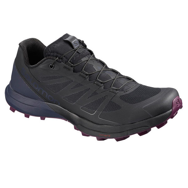 Picture of SALOMON TRAIL RUNNING SHOES SENSE PRO 3 W BLACK/GRAPHITE/PURPLE FOR WOMEN