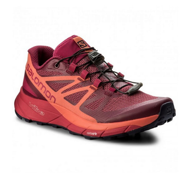 Picture of SALOMON TRAIL RUNNING SHOES SENSE RIDE W SANGRIA/LIVING CORAL/VIRTUAL PINK FOR WOMEN