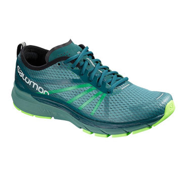 Picture of SALOMON ROAD RUNNING SHOES SONIC RA PRO HYDRO/REFLECTING POND/GREEN GECKO FOR MEN