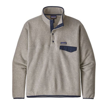 Image de CHANDAIL DE SKI ALPIN PATAGONIA LIGHTWEIGHT SYNCHILLA SNAP-T FLEECE PULLOVER OATMEAL HEATHER POUR HOMME