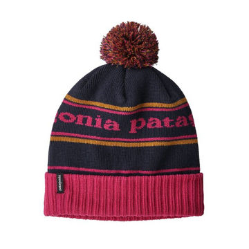 Image de TUQUE PATAGONIA POWDER TOWN BEANIE PARK STRIPE: CRAFT PINK W/NAVY BLUE