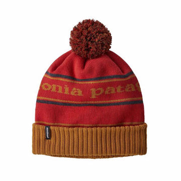 Picture of PATAGONIA HAT POWDER TOWN BEANIE PARK STRIPE : HAMMONDS GOLD