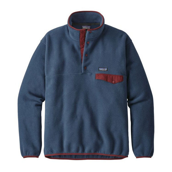 Picture of PATAGONIA ALPINE SKI SWEATER LIGHTWEIGHT SYNCHILLA SNAP-T FLEECE PULLOVER STONE BLUE FOR MEN