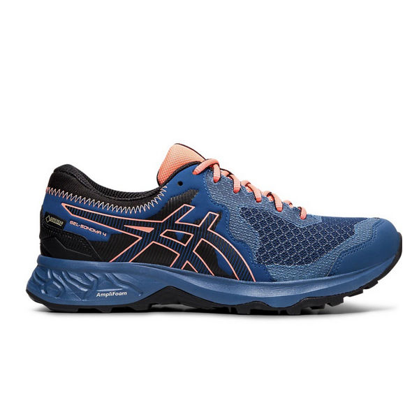 Picture of ASICS TRAIL RUNNING SHOES GEL-SONOMA 4 G-TX MAKO BLUE/SUN CORAL FOR WOMEN