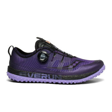 Picture of SAUCONY TRAIL RUNNING SHOES SWITCHBACK ISO PURPLE/BLACK FOR WOMEN