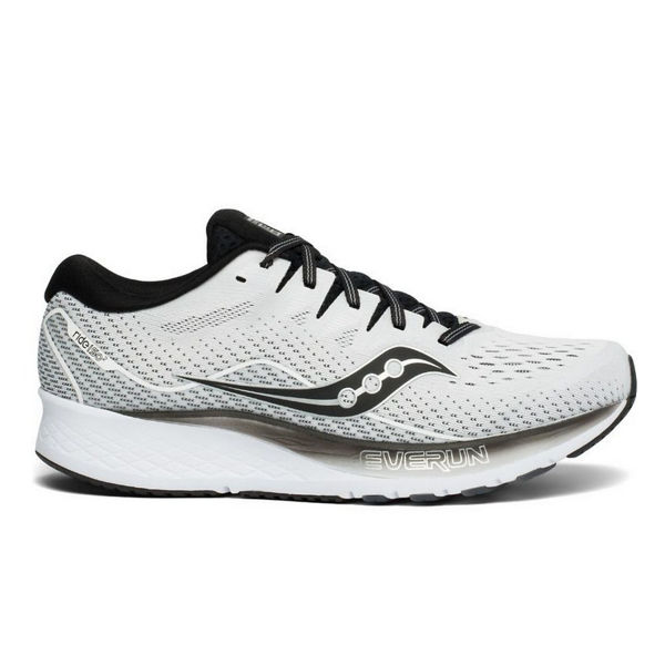 Picture of SAUCONY ROAD RUNNING SHOES RIDE ISO 2 WHITE/BLACK FOR MEN