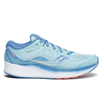 Picture of SAUCONY ROAD RUNNING SHOES RIDE ISO 2 BLUE/CORAL FOR WOMEN