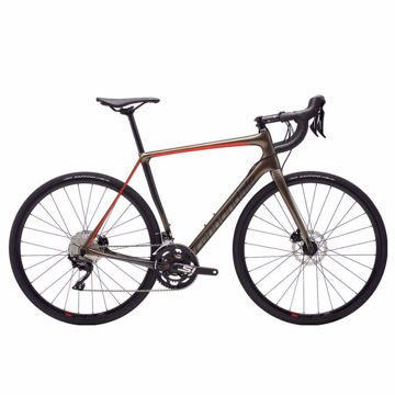 Picture of CANNONDALE ROAD BIKE SYNAPSE CARBON DISC 105 GREY/ORANGE 2019