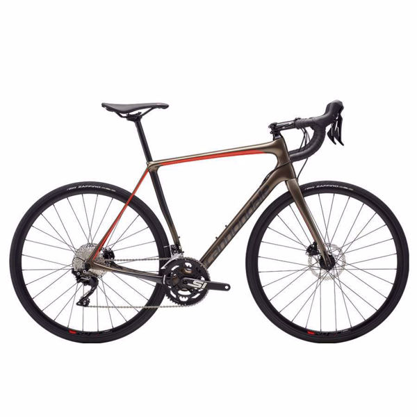 Image sur VÉLO DE ROUTE CANNONDALE SYNAPSE CARBON DISC 105 GRIS/ORANGE 2019