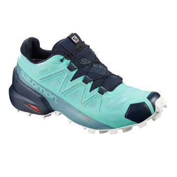 Picture of SALOMON TRAIL RUNNING SHOES SPEEDCROSS 5 GTX MEADOWBROOK/NAVY BLAZER/WHITE SAND