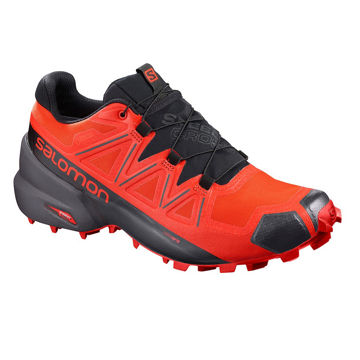 Image de SOULIERS DE COURSE EN SENTIER SALOMON SPEEDCROSS 5 GTX VALIANT POPPY/BLACK/CHERRY TOMATO