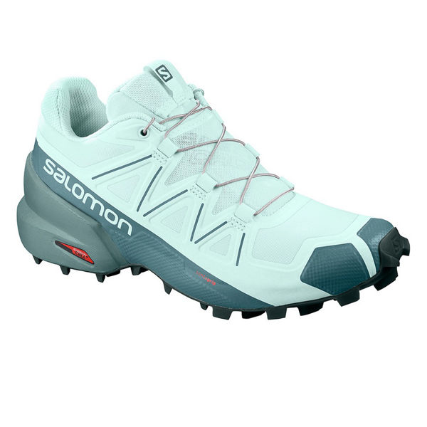 Picture of SALOMON TRAIL RUNNING SHOES SPEEDCROSS 5 ICY MORN/HYDRO/GREEN GABLES