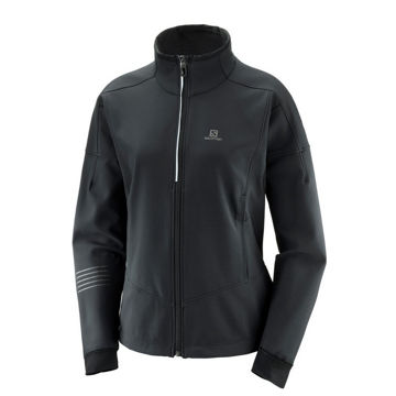 Picture of SALOMON CROSS COUNTRY SKI JACKET LIGHTNING WARM SHELL BLACK