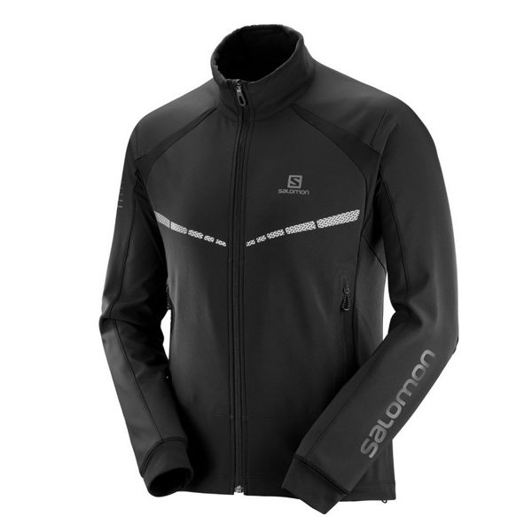 Picture of SALOMON CROSS COUNTRY SKI JACKET RS WARM SOFTSHELL BLACK