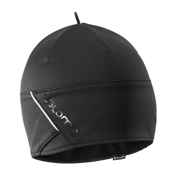 Picture of SALOMON HAT RS BEANIE BLACK/BLACK/SHINY BLACK