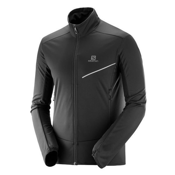 Picture of SALOMON CROSS COUNTRY SKI JACKET RS SOFTSHELL BLACK
