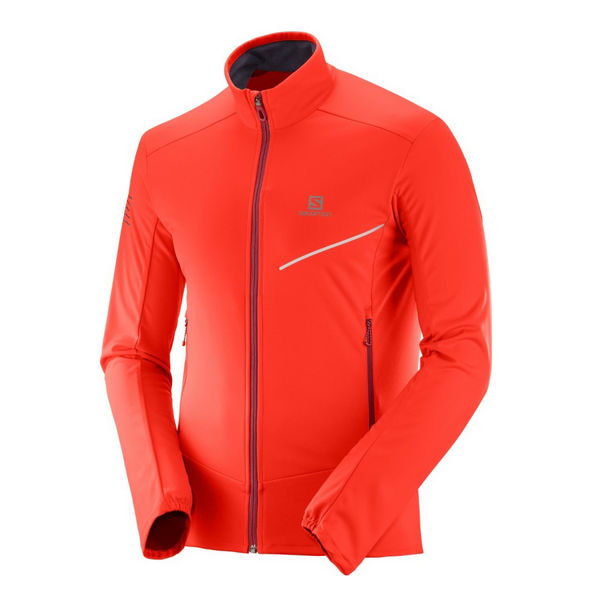 Picture of SALOMON CROSS COUNTRY SKI JACKET RS SOFTSHELL FIERY RED/BIKING RED