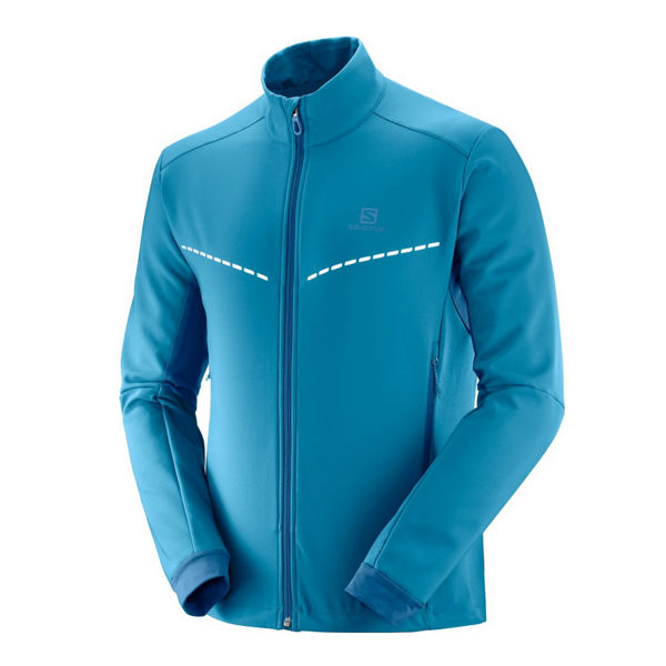 Picture of SALOMON CROSS COUNTRY SKI JACKET AGILE SOFTSHELL LYONS BLUE/POSEIDON