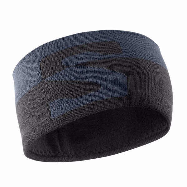 Image sur TUQUE SALOMON ORIGINAL HEADBAND EBONY/BLACK/WHITE