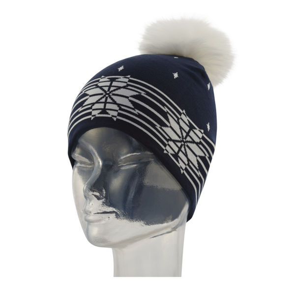 Picture of NEWLAND HAT LULU BLACK/WHITE