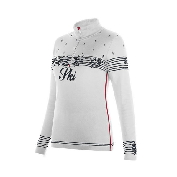 Image sur CHANDAIL DE SKI ALPIN NEWLAND T-NECK 1/2 ZIP SWEATER ANNE BLANC/NOIR