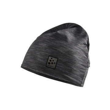 Image de TUQUE CRAFT MICROFLEECE PONYTAIL BLACK MELANGE
