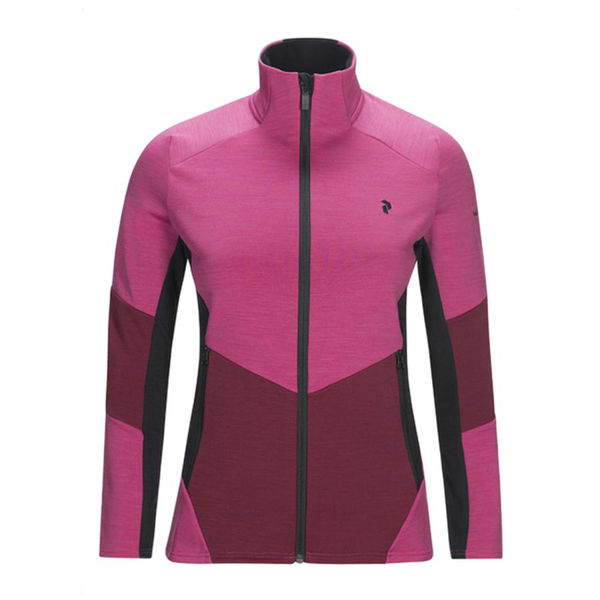 Image sur CHANDAIL DE SKI ALPIN PEAK PERFORMANCE HELO MID ZIP ROSE