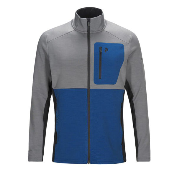 Picture of PEAK PERFORMANCE ALPINE SKI SWEATER HELO MID ZIP GREY MELANGE