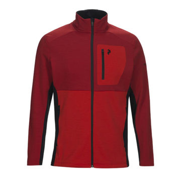 Image de CHANDAIL DE SKI ALPIN PEAK PERFORMANCE HELO MID ZIP DARK CHILLI