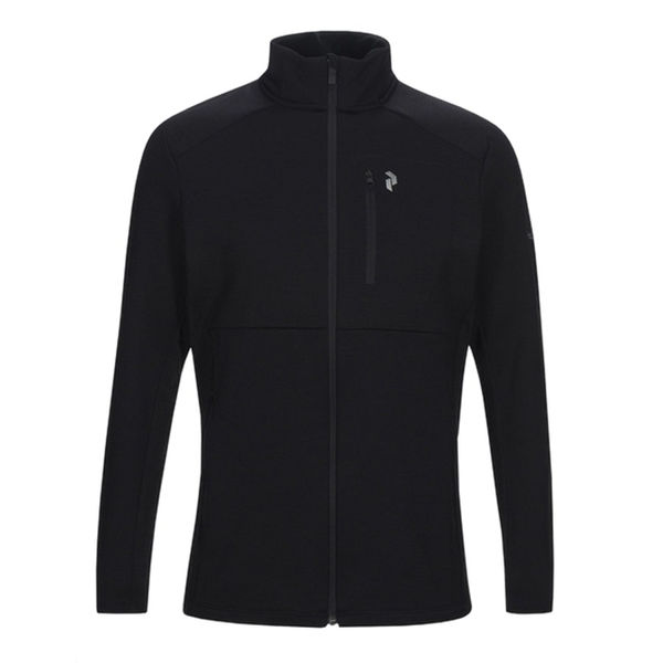 Picture of PEAK PERFORMANCE ALPINE SKI SWEATER HELO MID ZIP BLACK