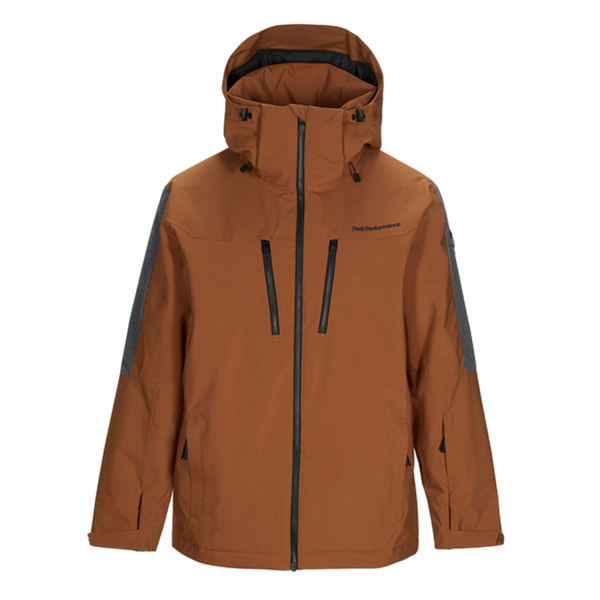 Image sur MANTEAU DE SKI ALPIN PEAK PERFORMANCE CLUSAZ HONEY BROWN
