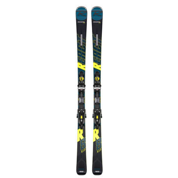 Picture of SKIS ALPINS ROSSIGNOL REACT R8 HP W/ NX12 BLEU/JAUNE 2020 (AVEC FIXATIONS)