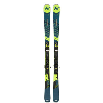 Picture of ROSSIGNOL ALPINE SKIS REACT RX W/ XPRESS 10 GW BLUE/YELLOW 2020 FOR WOMEN (WITH BINDINGS)