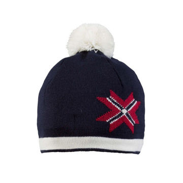 Picture of DALE OF NORWAY HAT OL PASSION NAVY/RED/OFFWHITE