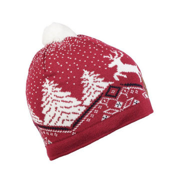 Picture of DALE OF NORWAY HAT CHRISTMAS RED/OFF WHITE/NAVY