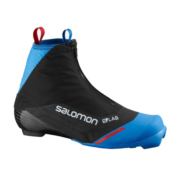 Picture of SALOMON CROSS COUNTRY SKI BOOTS S/LAB CARBON CLASSIC BLACK/BLUE FOR MEN