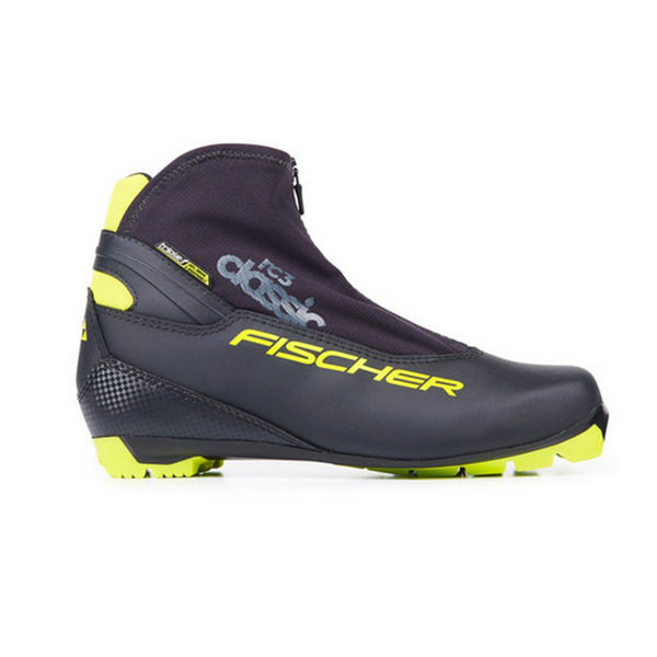 Picture of FISCHER CROSS COUNTRY SKI BOOTS RC3 CLASSIC BLACK/YELLOW FOR MEN