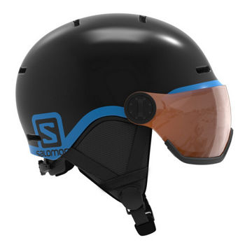 Picture of SALOMON ALPINE SKI HELMET GROM VISOR NOIR GROM VISOR BLACK FOR JUNIORS