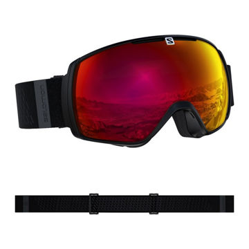 Image de LUNETTES DE SKI ALPIN SALOMON XT-ONE BK/UNI POP RED