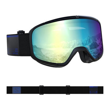Image de LUNETTES DE SKI ALPIN SALOMON FOUR SEVEN PHOTO BLK/AW BLUE