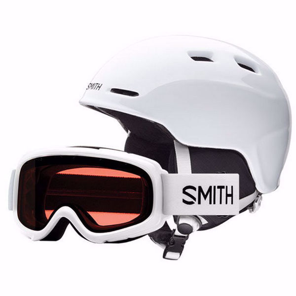 Image sur CASQUE DE SKI ALPIN SMITH ZOOM/GAMBLER COMBO WHITE YOUTH POUR JUNIOR