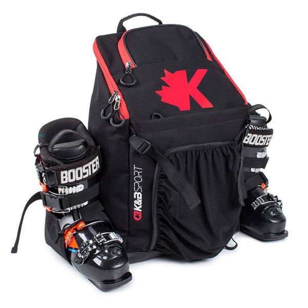Picture of K&B ALPINE SKI BAG WHISTLER BOOT PACK BLACK